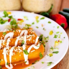 Enchiladas de requesón